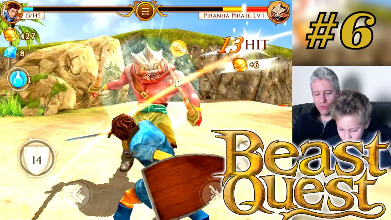 'beast quest' videogame attracts 2 million downloads